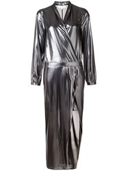 Michelle Mason Metallic Wrap Dress