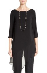 St. John Women's Collection Stretch Cady Tunic