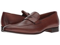 Massimo Matteo Perf Mocc Penny Castagna Slip On Shoes Brown