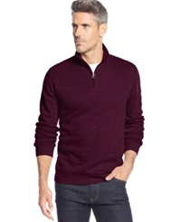 John Ashford Big And Tall Solid Quarter Zip Pullover Red Plum