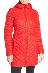 The North Face Women's 'Thermoball Tm ' Primaloft Hooded Parka High Risk Red