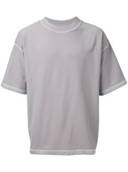 Monkey Time Exposed Seam T Shirt Men Cotton S Grey