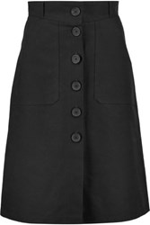 Maje Cotton Skirt Black