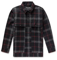 Filson Layered Checked Wool Coat Black