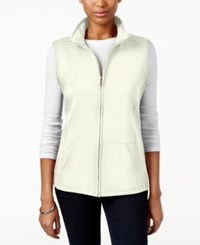 Karen Scott Quilted Zip Front Vest Only At Macy's Eggshell