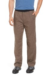Prana Men's Vaha Hiking Pants Brown Herringbone