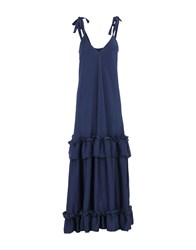 Nineminutes Long Dresses Dark Blue