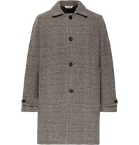 Aspesi Herringbone Wool Coat Gray