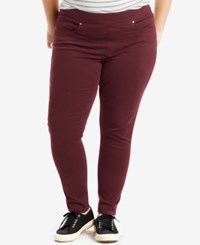 Levi's Plus Size Pull On Skinny Jeggings Merlot