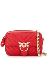 Pinko Love Quilted Logo Plaque Cross Body Bag 60