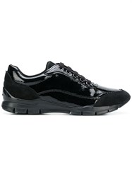 Geox Varnished Lace Up Sneakers Black