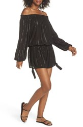 Muche Et Muchette Nicholas Off The Shoulder Cover Up Romper Black Silver