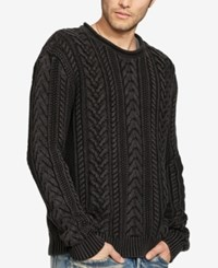 Denim And Supply Ralph Lauren Men's Cable Knit Sweater Black