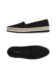 Prada Sport Footwear Espadrilles Men Black
