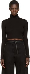 Rosetta Getty Black Cropped Turtleneck