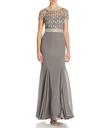 Mignon Embellished Gown Graphite