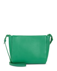 Jaeger Icon Leather Cross Body Bag Green