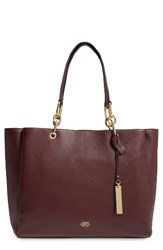 Vince Camuto Avin Leather Tote Red Wine