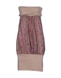 Gianfranco Ferre' Short Dresses Dove Grey