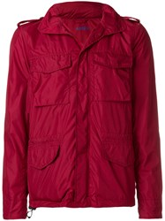 Aspesi Cropped Lightweight Jacket Red