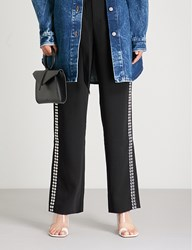 Moandco. Studded Crepe Trousers Black
