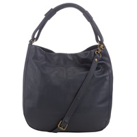 John Lewis Stanley Leather Hobo Bag Navy
