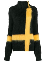 Gianluca Capannolo Striped Roll Neck Jumper Black