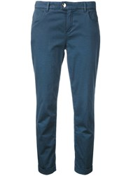 Jacob Cohen Cropped Tapered Jeans Blue