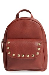 Omg Stud Flap Faux Leather Backpack