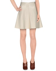 Guess By Marciano Knee Length Skirts Ivory