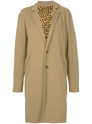 Hysteric Glamour Oversize Single Breasted Coat Brown