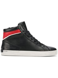 Crime London Hope Contrast Hi Top Sneakers Black