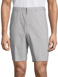 Theory Striped Slim Shorts Grey