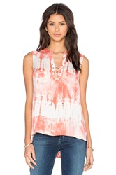 Gypsy 05 Laced Front Chest Pockets Tank Blush