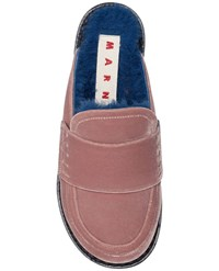 Marni Velvet Mule With Shearling Insole Size 37.5 20339 Unavailable