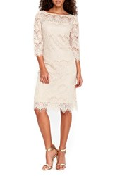 Wallis Women's Scallop Lace Dress Taupe Beige