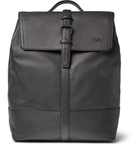 Hugo Boss Leather Backpack Black