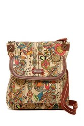 Sakroots Flap Crossbody Brown