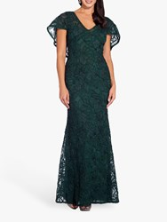 Adrianna Papell Soutache Embellished Dress Dusty Emerald