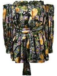 For Love And Lemons Floral Off Shoulder Dress Women Silk Polyester Viscose S
