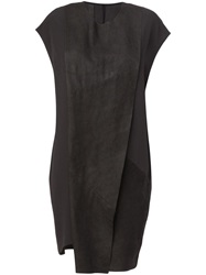 Ilaria Nistri Leather Panel Dress Black