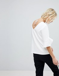 Suncoo V Back Shell Top White
