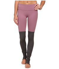 Alo Yoga Goddess Ribbed Legging Purple Sand Stormy Heather Women's Workout
