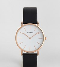 Sekonda Leather Watch In Black Exclusive To Asos