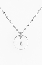 Nashelle Sterling Silver Initial Mini Disc Necklace Sterling Silver A