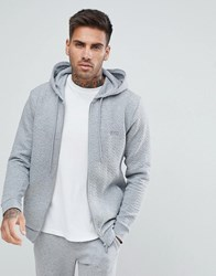 Boss By Hugo Contemporary Zip Thru Jacket In Quilted Grey