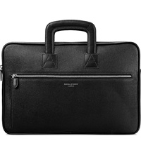 Aspinal Of London Connaught Saffiano Leather Document Case Black