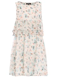 Pussycat Floral Print Flare Dress Cream