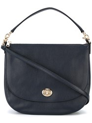 Coach Large 'Turnlock Hobo' Tote Blue