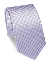 Yves Saint Laurent Silk Dotted Tie Lavender
